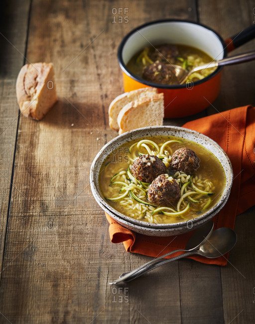 Meatball orzo soup - Offset Collection