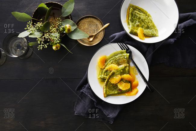 Matcha crepe suzette - Offset Collection