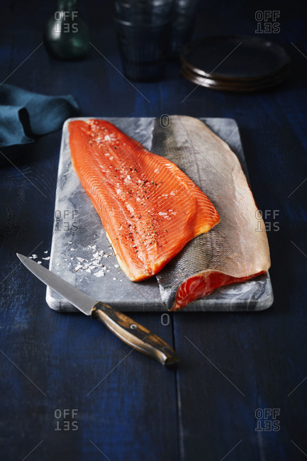 Raw salmon from the Offset Collection