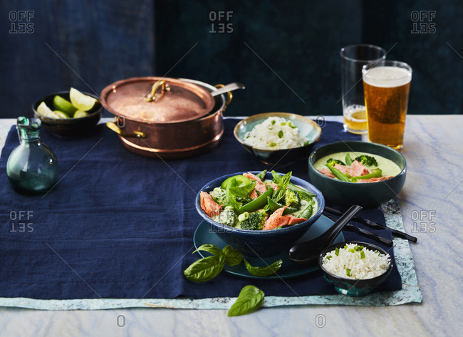 Salmon green curry - Offset Collection