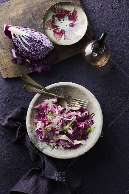 Slaw with red cabbage - Offset