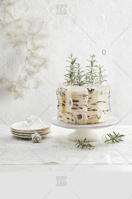 Snowflake vanilla cake