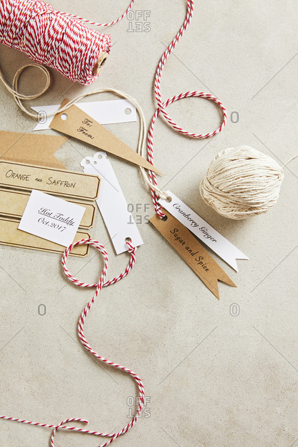 Labels and string