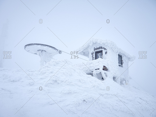 Building at winter