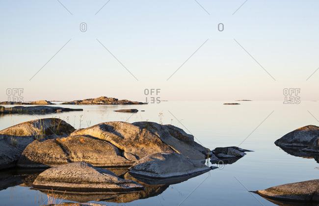 Rocky coast at sunrise