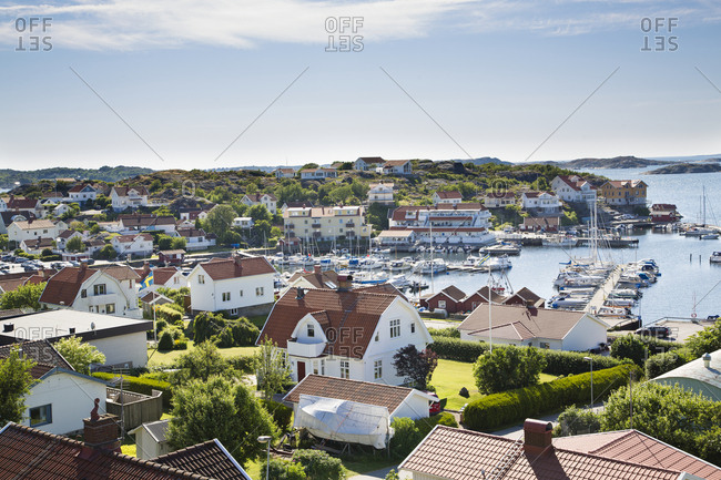 Coastal town on a sunny day
