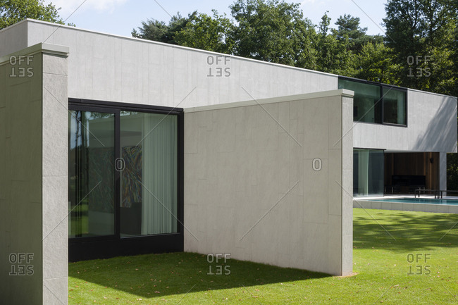 Belgium - August 13, 2013: Modern exterior of home in Belgium