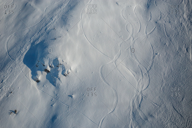 ski trails from above the snow