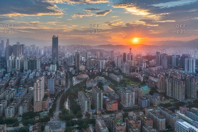 June 19, 2018: Fuzhou city of fujian province building scenery