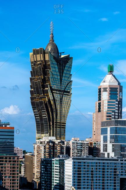 July 9, 2018: Macau city architecture scenic cityscape