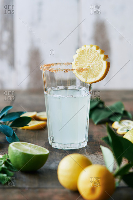 A glass of lemonade