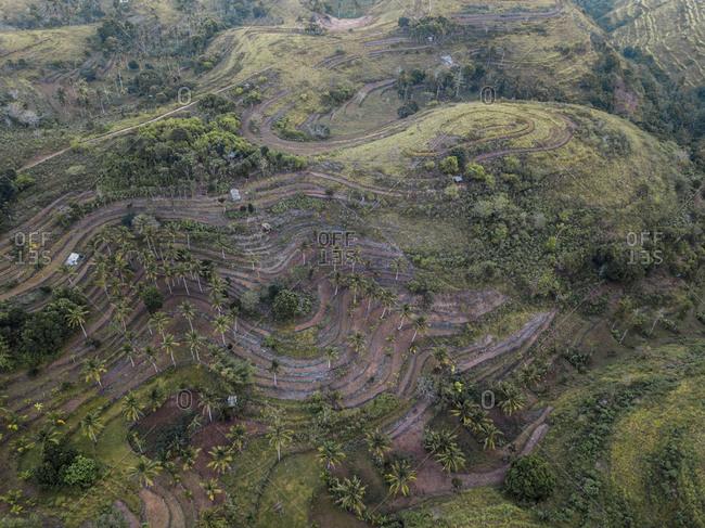 Aerial view of landscape, Nusa Penida, Bali, Indonesia