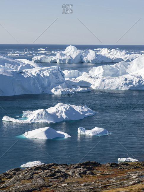 Ilulissat Icefjord also called kangia or Ilulissat Kangerlua at Disko Bay. The icefjord is listed as UNESCO World Heritage Site.