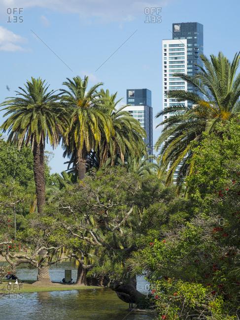 Bosques de Palermo park. Buenos Aires, capital of Argentina.