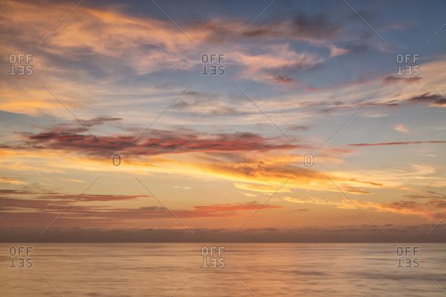USA, California, La Jolla. Sunset from La Jolla Shores
