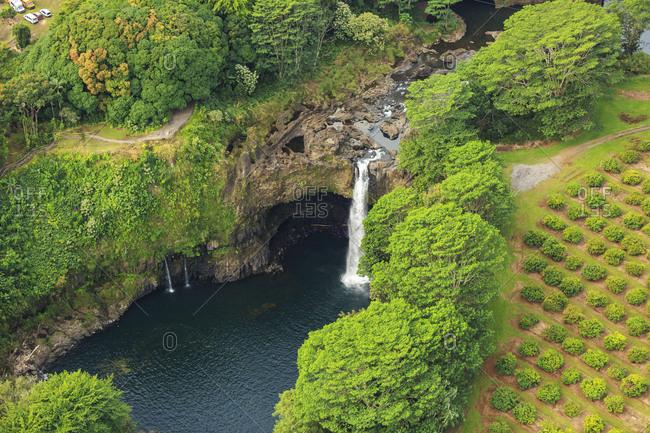 Helicopter tour from Hilo to Pu'u O'o vent and crater area, Big Island, Hawaii, USA