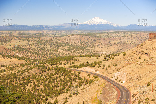 Highway 97 Road scenic near Madras, Eastern Oregon, USA