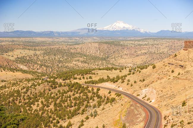 Highway 97 Road scenic near Madras, Eastern Oregon, USA
