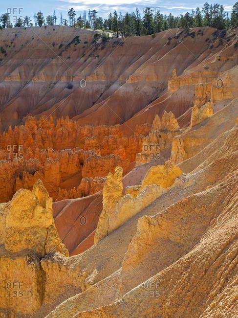 Utah, Bryce Canyon National Park. View of canyon with hoodoos