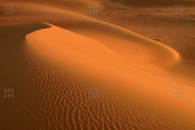 United Arab Emirates- Rub' al Khali- desert sand and ripple marks