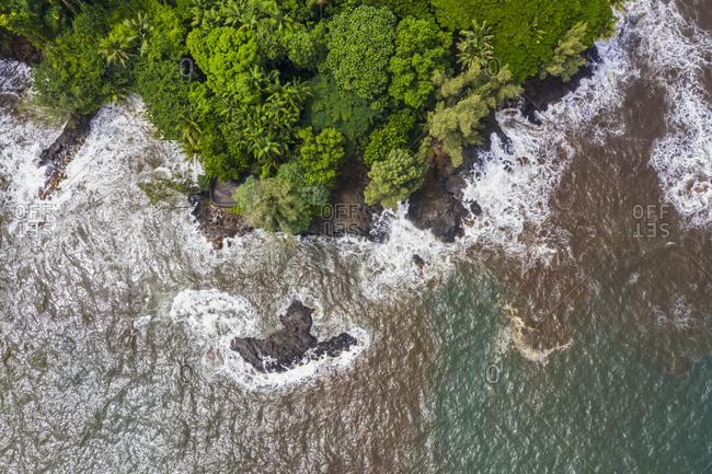 USA- Hawaii- Big Island- Onomea Bay- Aerial view