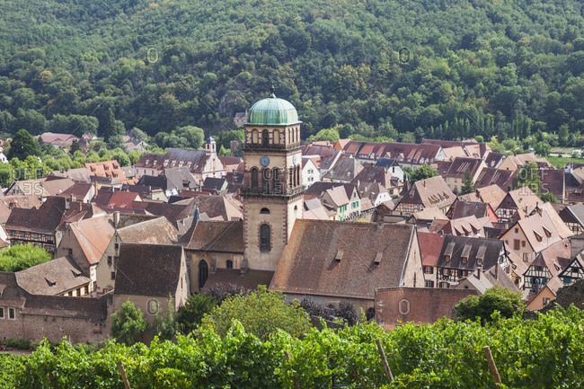 France- Alsace- Kaysersberg- old town