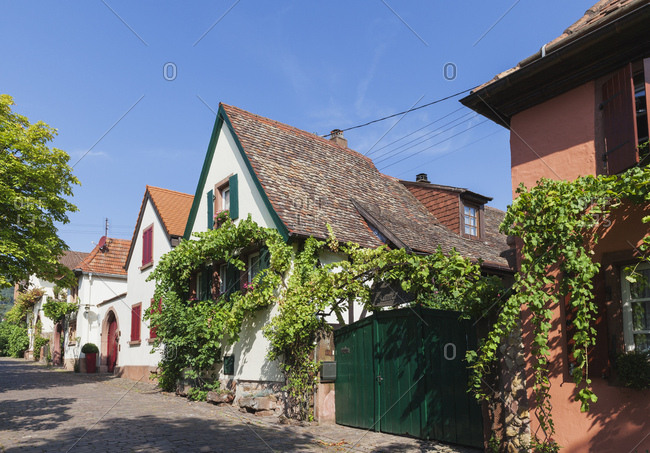 Germany- Rhodt unter Rietburg- German wine route- typical historic houses