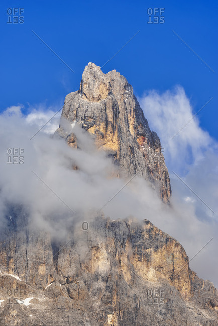 Italy- Dolomites- Trentino-Alto Adige- Trentino- mountain peak Cimon Della Pala