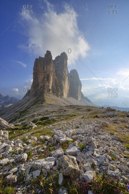 Italy- Sexten Dolomites- Tre Cime di Lavaredo- Nature Park Tre Cime- Unesco World Heritage Natural Site