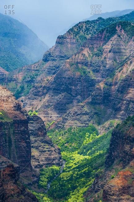 USA- Hawaii- Kauai- Overlook over the Waimea canyon