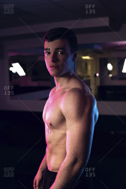 young fitness man posing