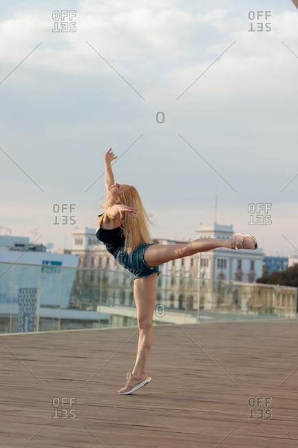 Urban woman dancer