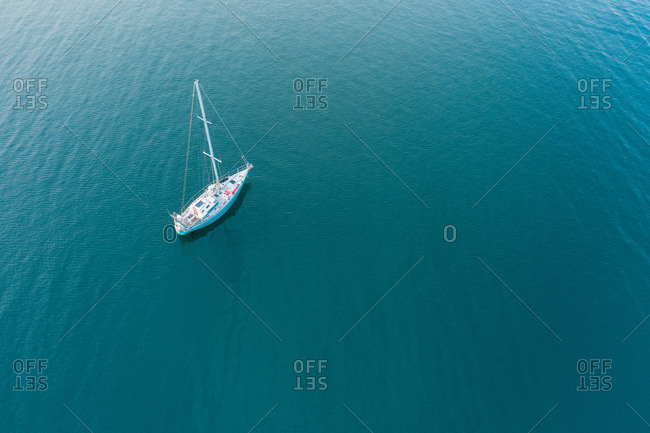 Boat floating on water surface