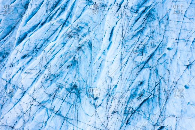 Wonderful blue ice surface