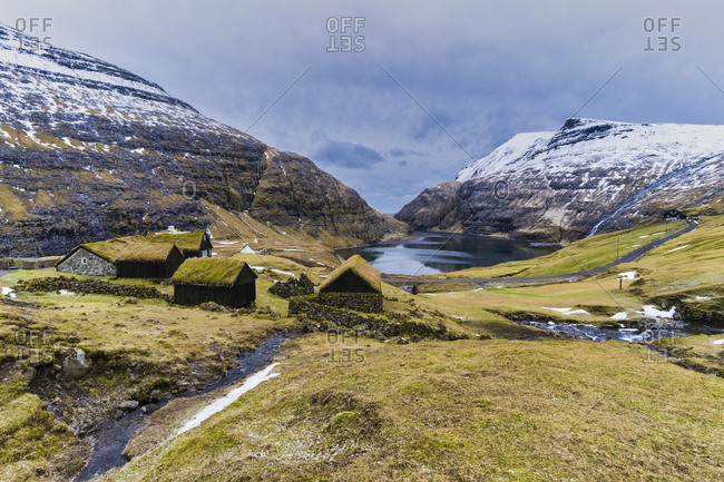 Village of saksun, streymoy island, faroe islands