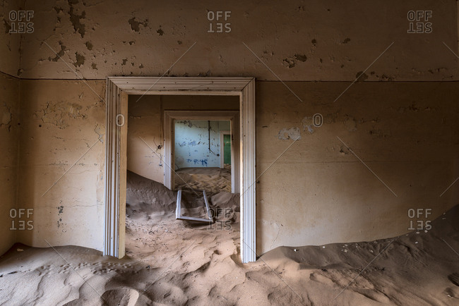 Derelict architecture in Kolmanskop ghost town