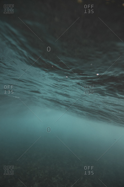 Underwater view of turquoise ocean water