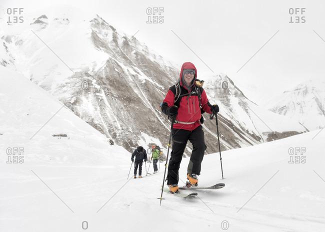 Georgia- Caucasus- Gudauri- confident man on a ski tour