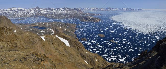 Greenland- East Greenland- Ammassalik and Kulusuk Island- icebergs and pack ice- drift ice