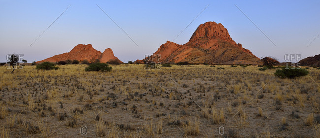 Africa- Namibia- Erongo Province- Panoramic view of Spitzkoppe