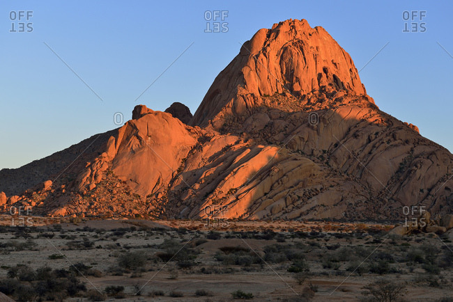 Africa- Namibia- Erongo Province- Spitzkoppe in the evening light