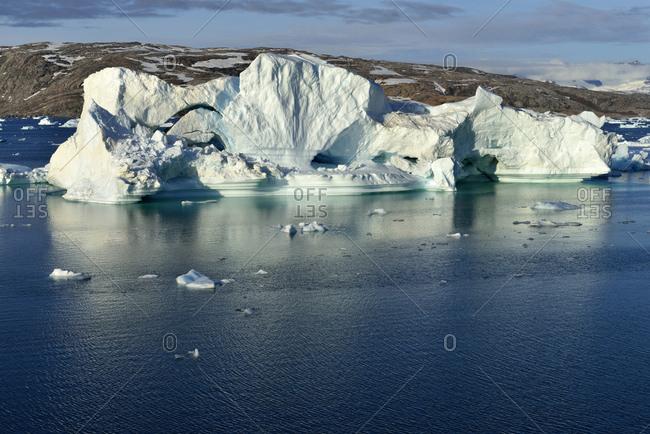 Greenland- East Greenland- Johan Petersens Fjord- Iceberg drifting