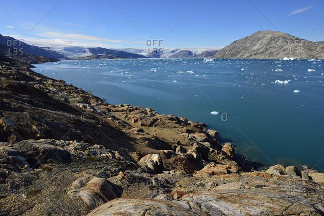 Greenland- East Greenland- Sermilik Fjord- Johan Petersens Fjord and inland ice