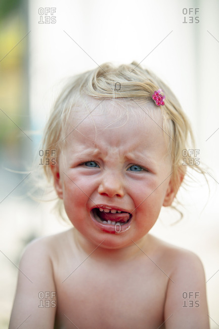 Portrait of crying little girl