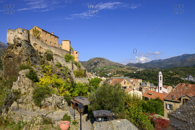 France- Corsica- Corte- citadel over the old town