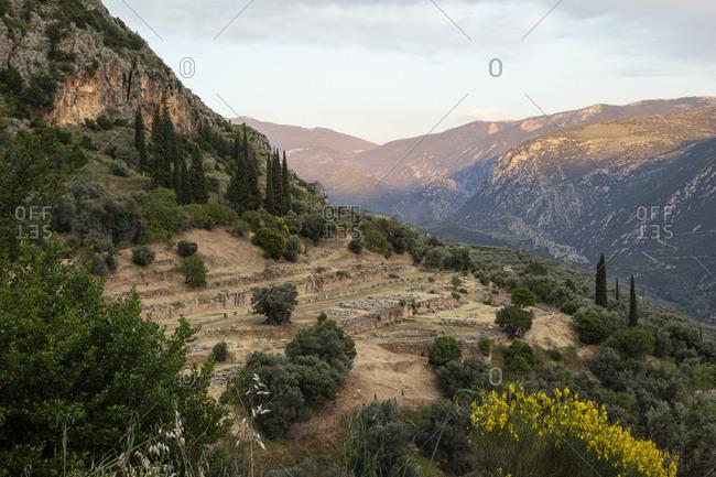 Greece- Delphi- tholos in the sanctuary of Athena Pronaia