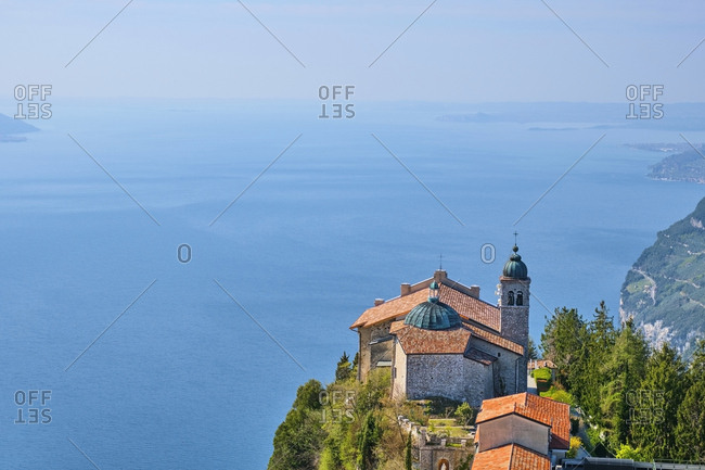Italy- Lombardy- Lake Garda- Madonna di Montecastello