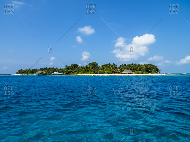 Maledives- Ross Atoll- Island and lagoon