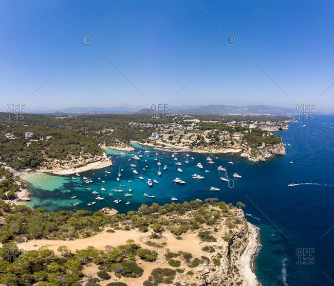 Spain- Mallorca- Palma de Mallorca- Aerial view of Region Calvia and El Toro- Portals Vells