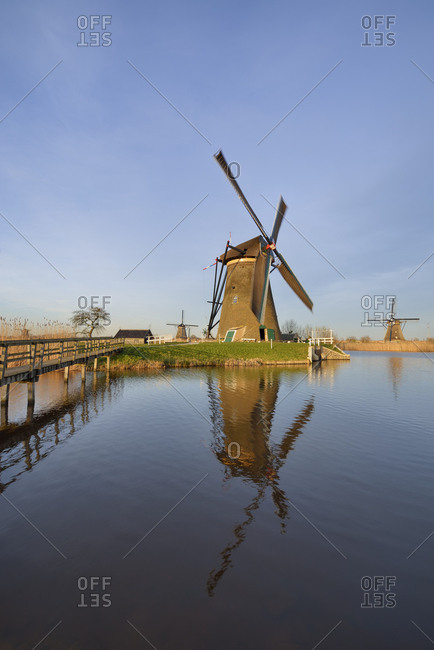 Holland- South Holland- Kinderdijk- wind mill